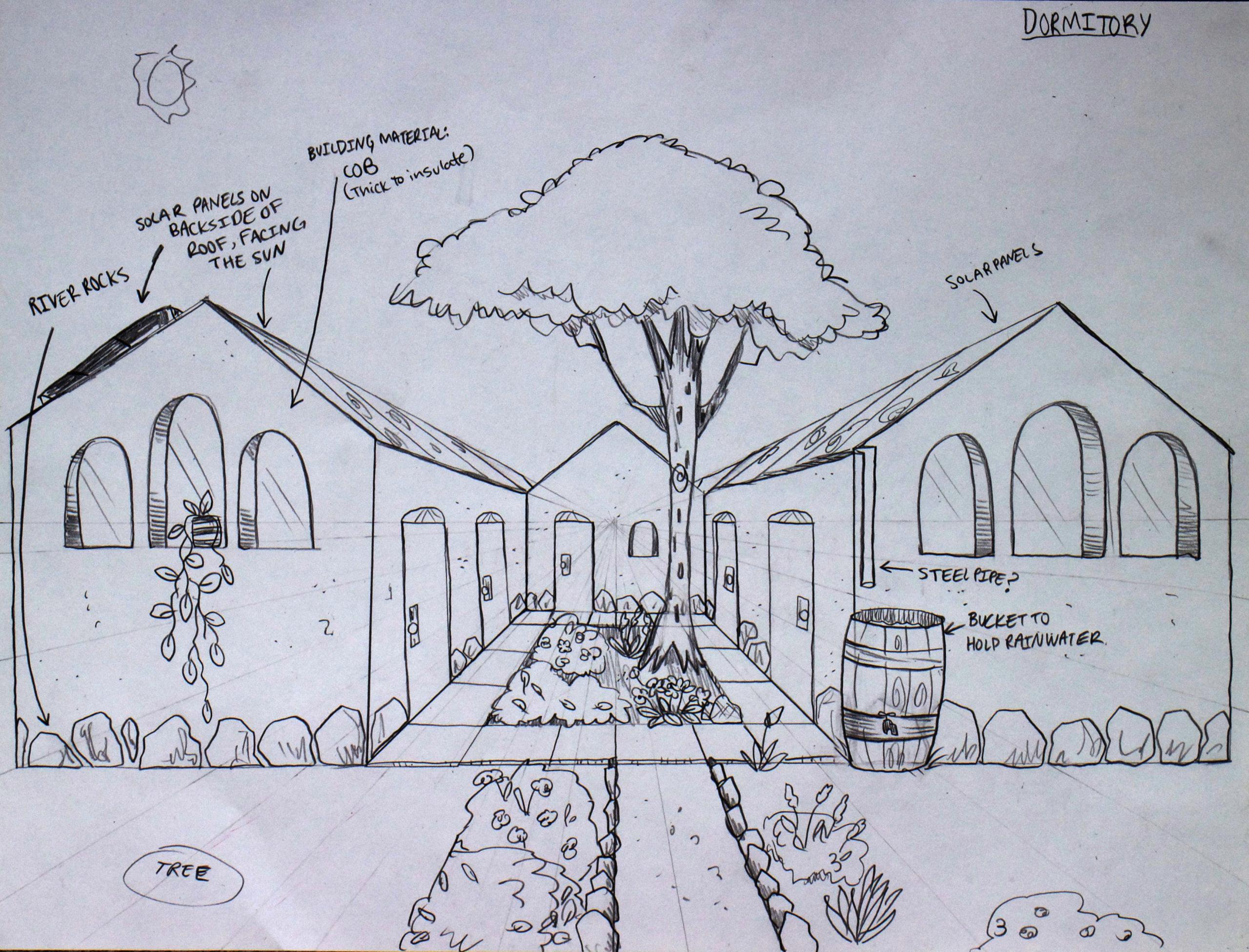 9 Dormitory Enlarged Plan