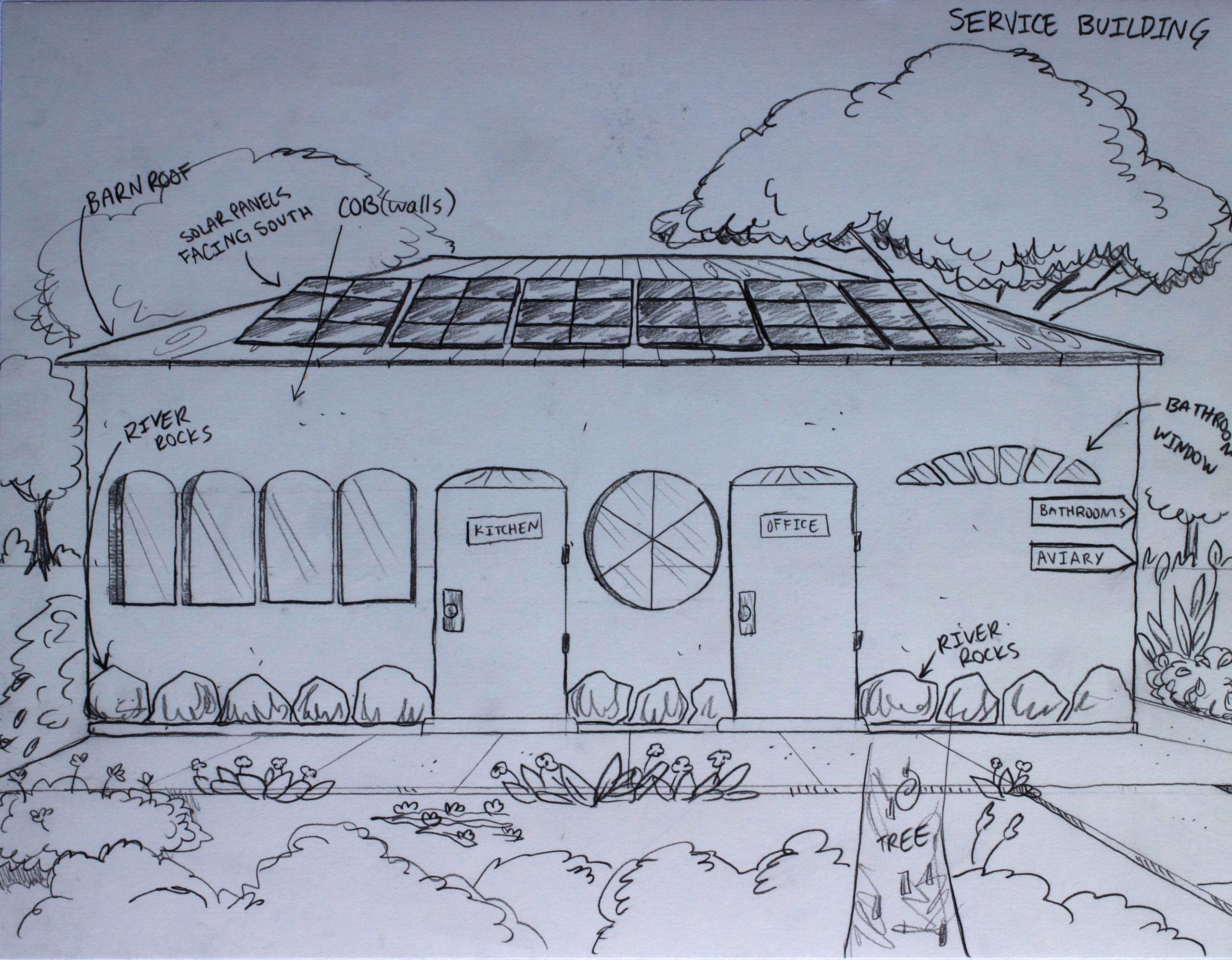 9 Service Building Enlarged Plan