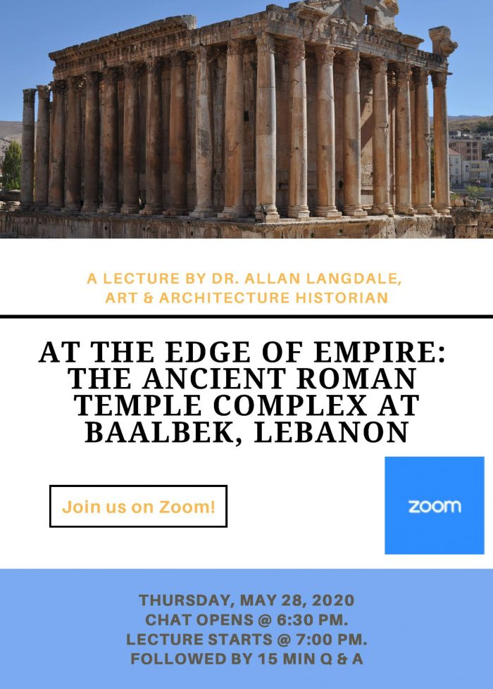 Baalbeck Talk Flyer