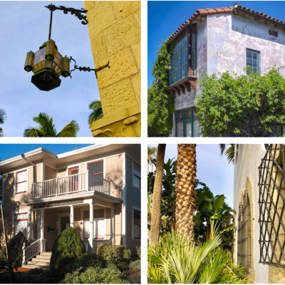 four interesting Santa Barbara architectural landmarks on AFSB walking tours
